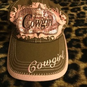 Cowgirl SnapBack Hat - Brown/Pink